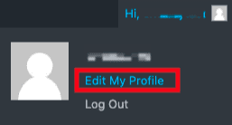 edit user profile link