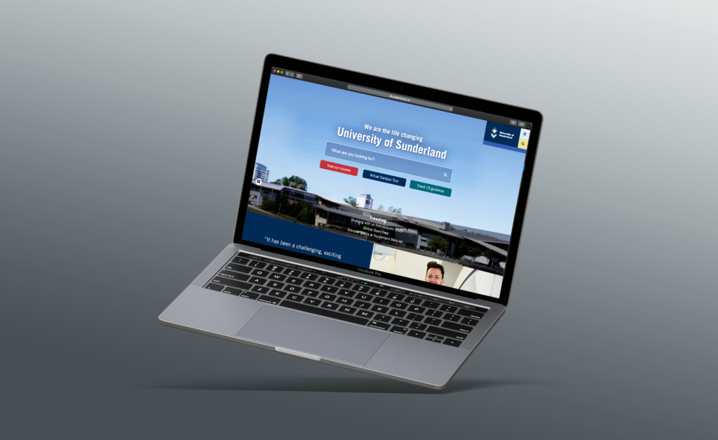 Uni of sunderland mockup university of sunderland website redesign