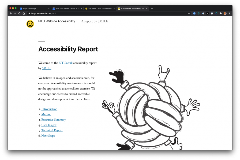 NTU Accessibility Blog Front Page