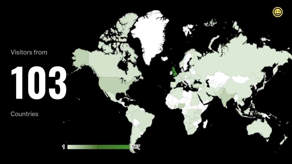 A graphic showing the number of countries served by Hijack