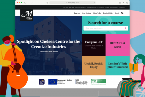 A image showing the Morley College website