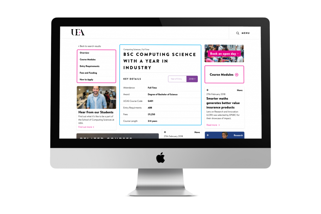 UEA Course Pages Example
