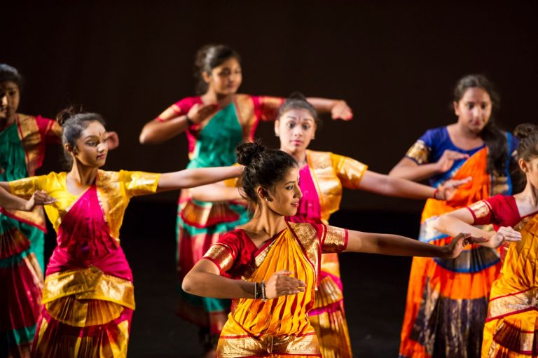 Dancer at a Sampad Arts event